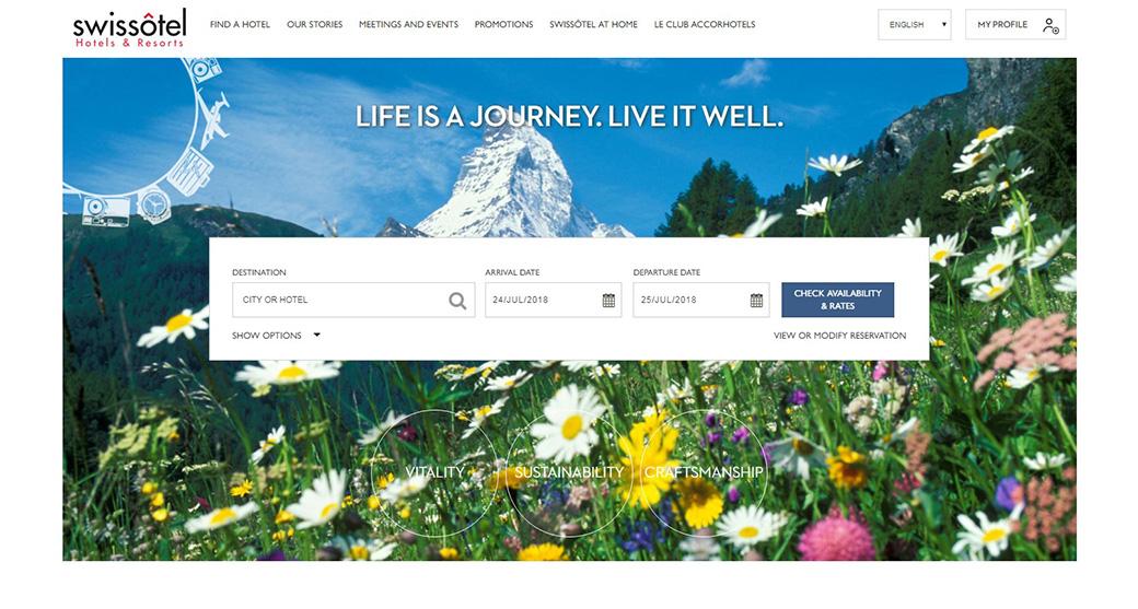 Сайт отеля Swissotel изображение