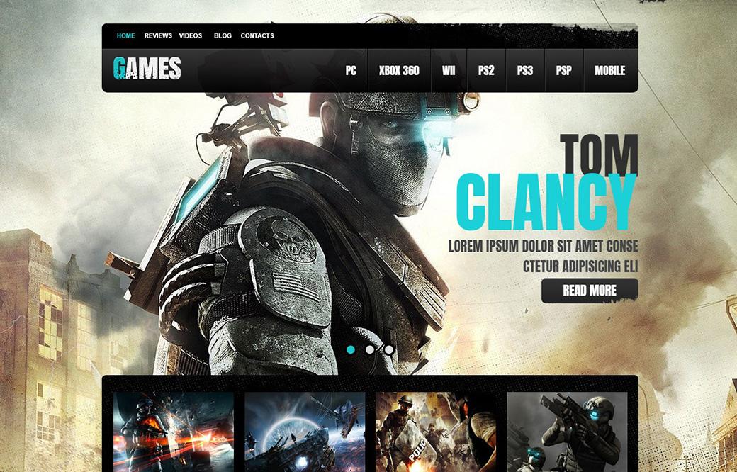 HTML шаблон сайта Game Portal