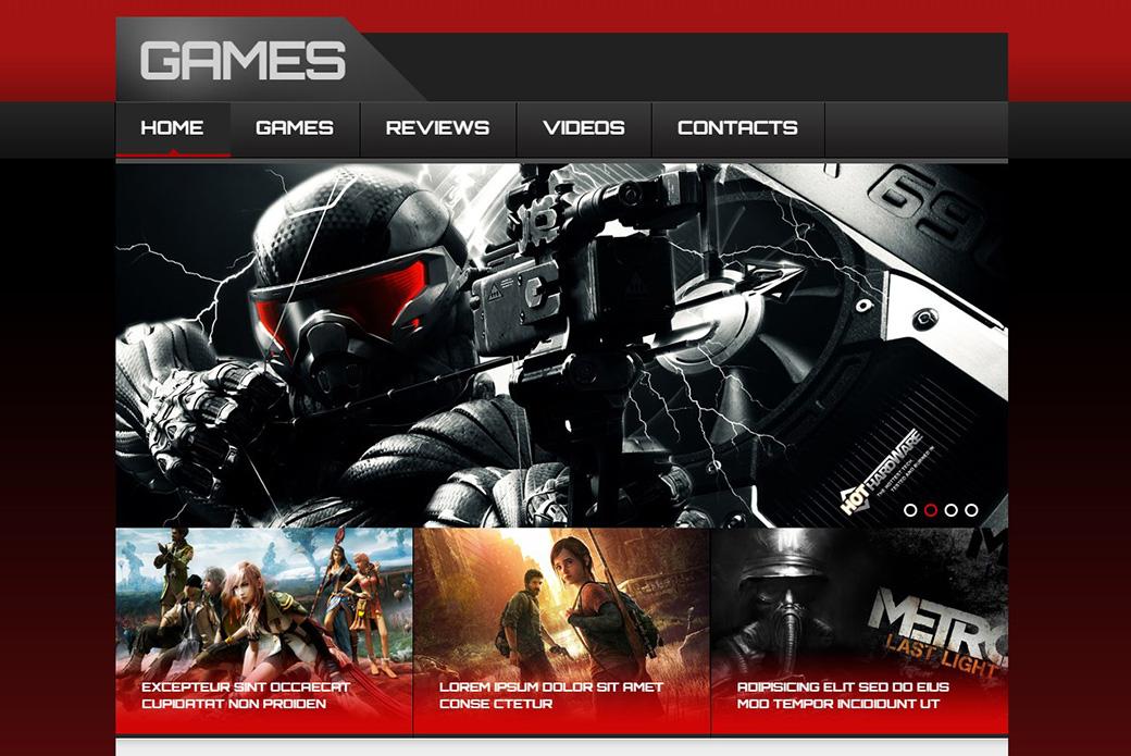 HTML шаблон сайта New Games