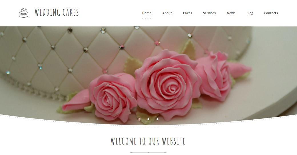 Responsive Website Vorlage für einen Hochzeits-Catering
