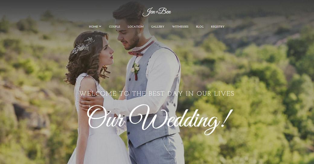 Hochzeitshomepage erstellen Website Vorlage für Hochzeitsfotografen