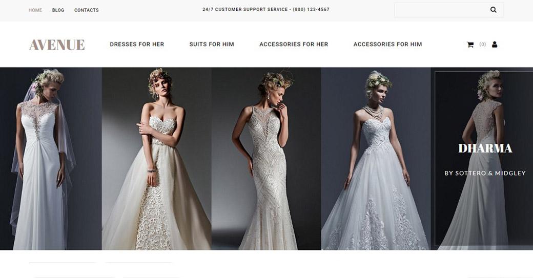 Hochzeitshomepage erstellen Website Vorlage für einen Hochzeitssalon