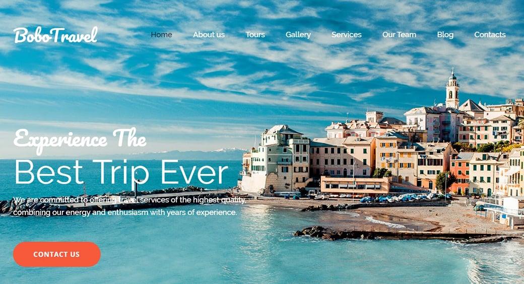сайт отеля у моря