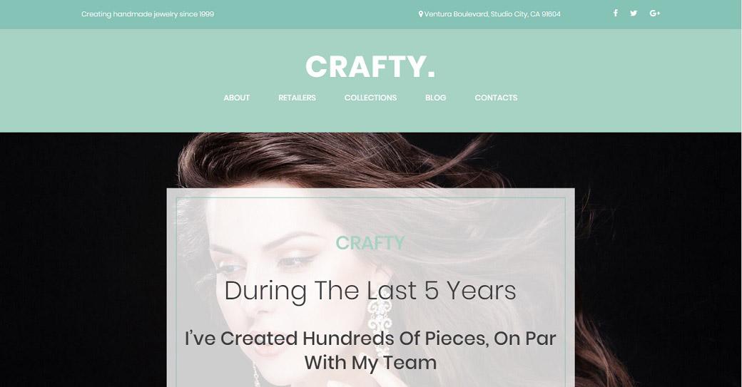 künstler portfolio website template für einen designer