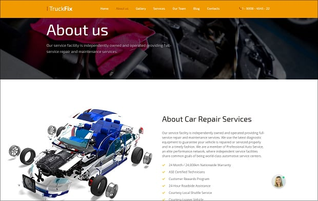 How to make a car website - about