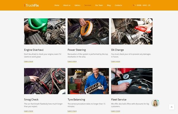 How to make a car website - services