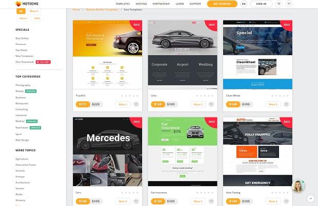 How to make a car website - templates