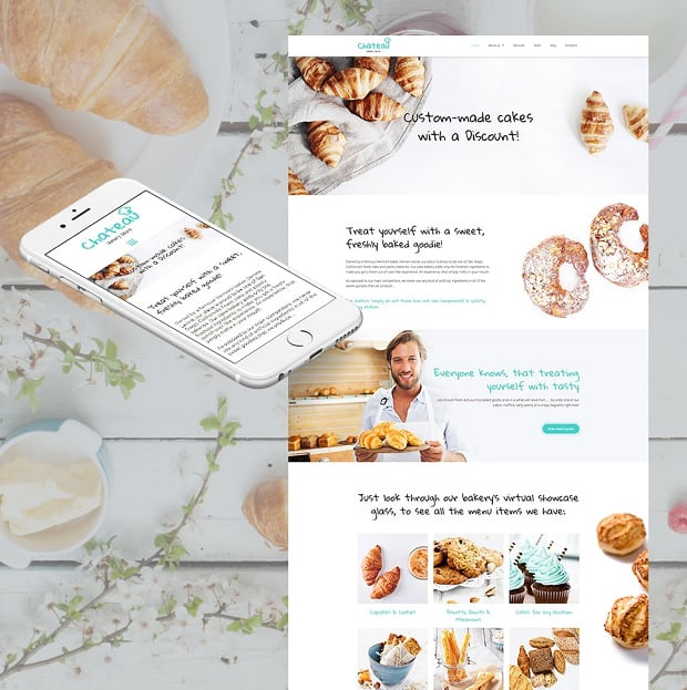 How to make a food website - chateau