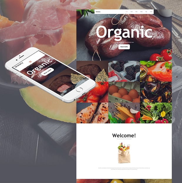 How to make a food website - grocery