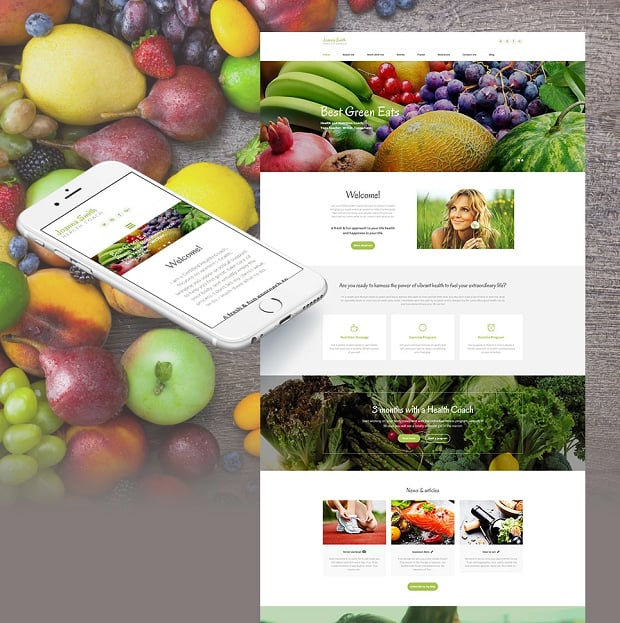 How to make a food website - health coach