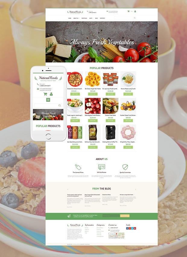 How to make a food website - natural foods