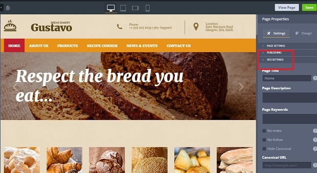 How to make a food website - seo