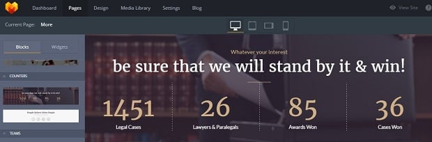 How to make a law website - counters