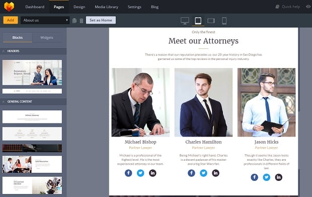 How to make a law website - social media