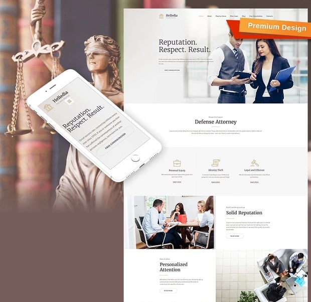 How to make a law website - template