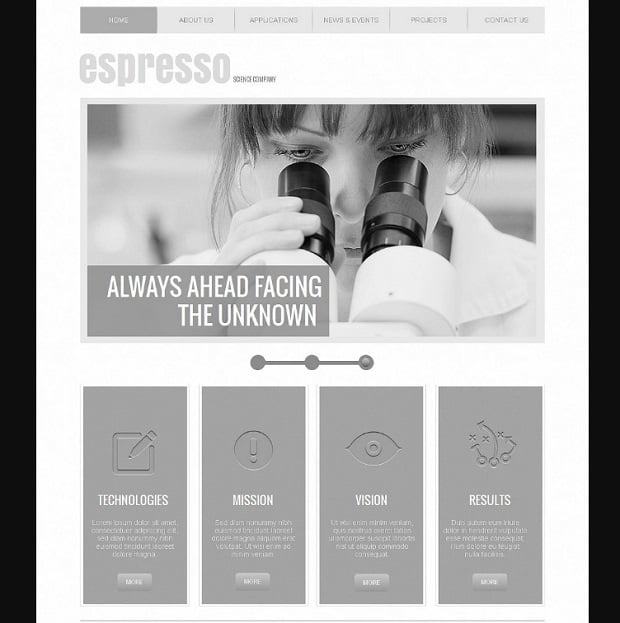 How to make a science website - espresso
