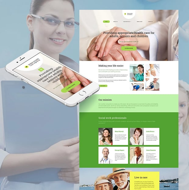 How to make a society website - health agency