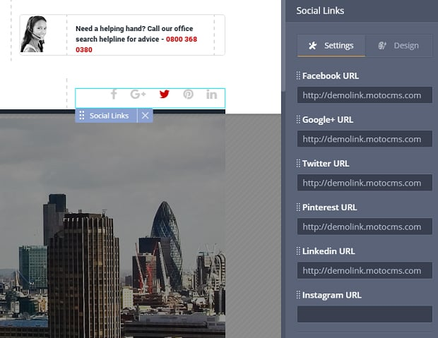 How to make a society website - social links