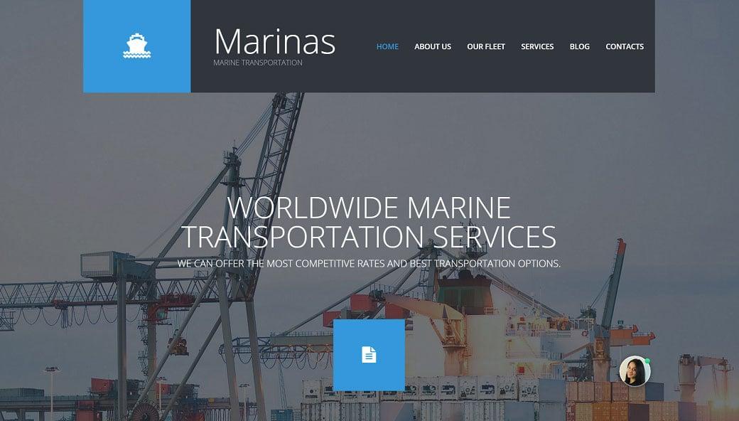 How to make a transportation website - marinas