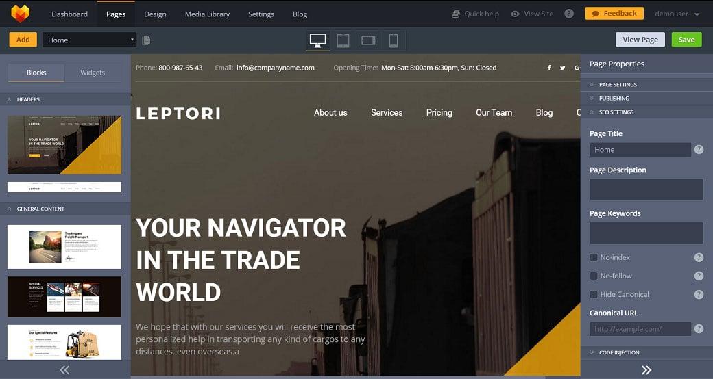 How to make a transportation website - seo