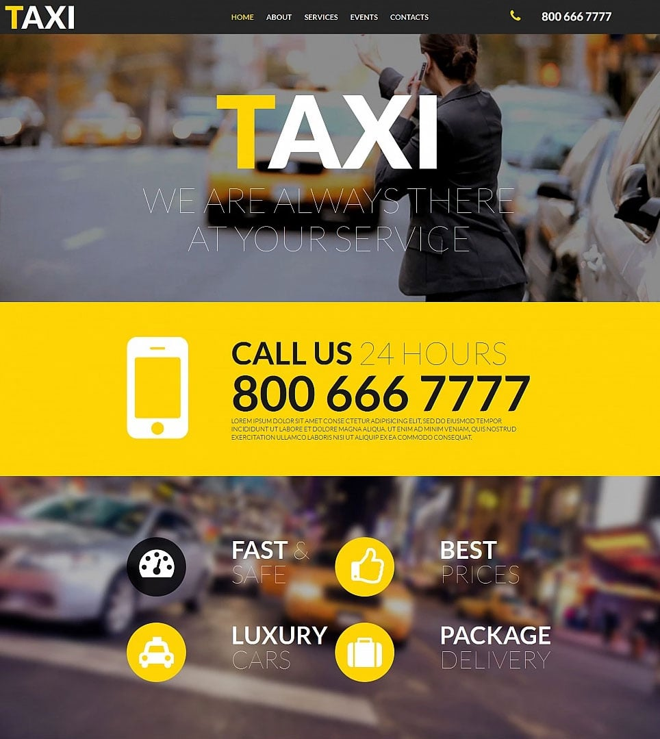 How to make a transportation website - taxi