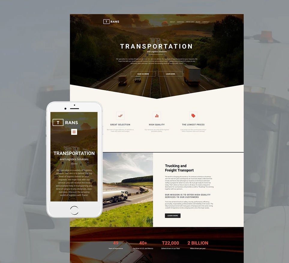 How to make a transportation website - trans
