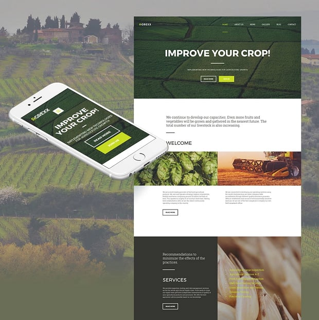 How to make an agriculture website - agrexx