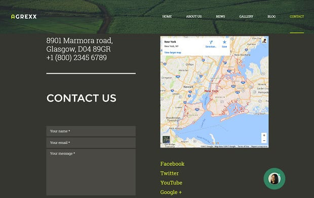 How to make an agriculture website - contacts