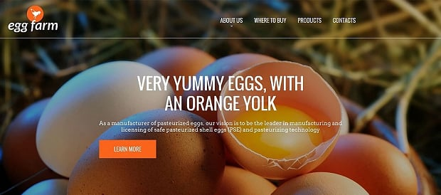 How to make an agriculture website - egg farm