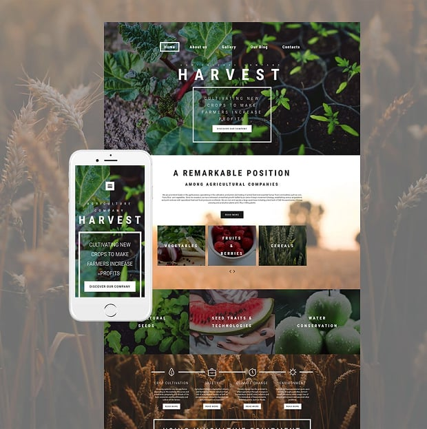 How to make an agriculture website - harvest