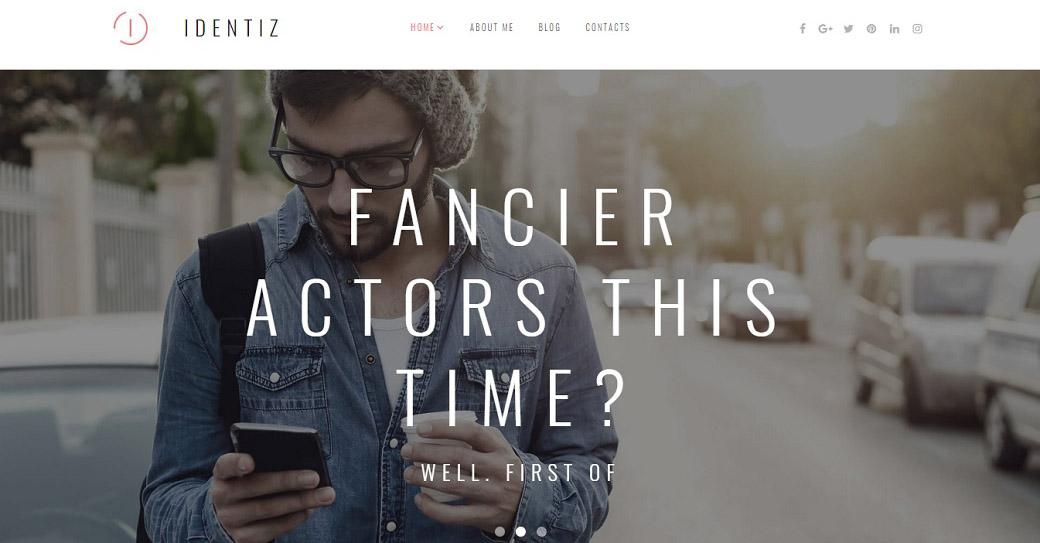 künstler portfolio website template für schauspieler