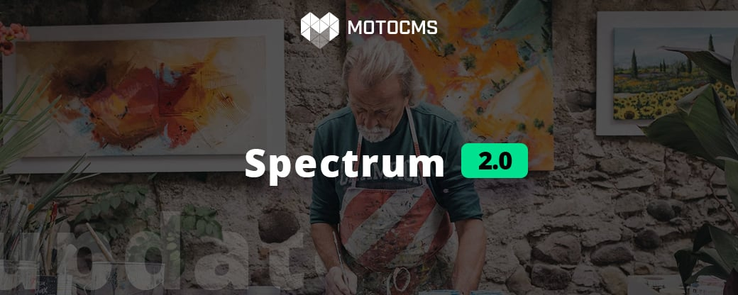 MotoCMS spectrum 2.0 update - main
