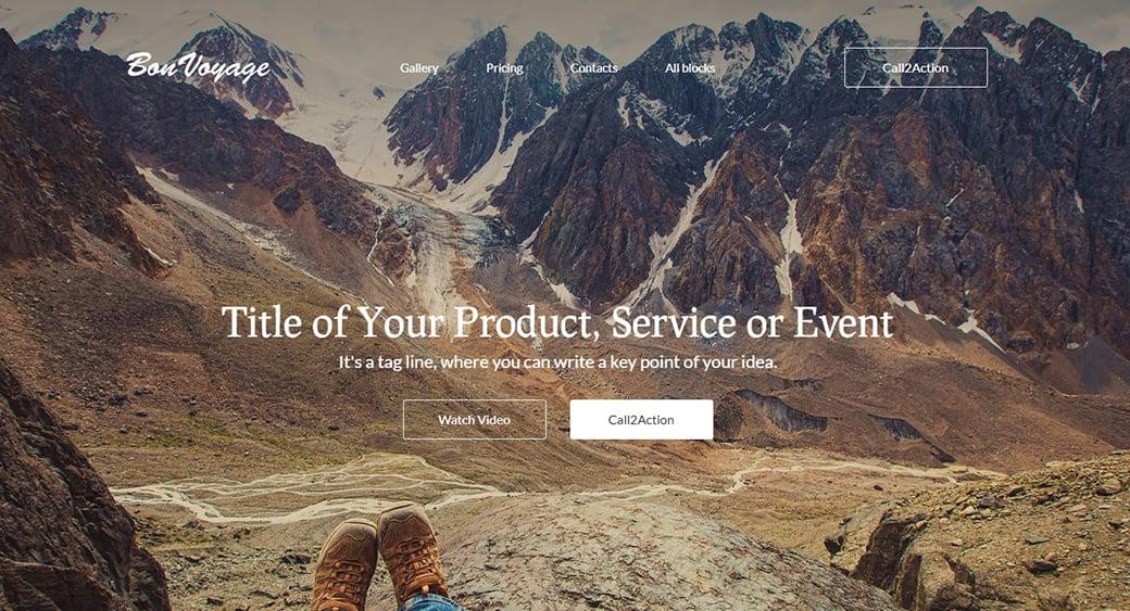 Сайт апартаментов в горах