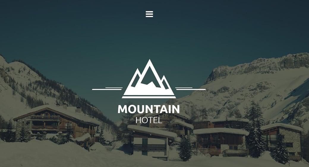 Горный курорт - шаблон сайта