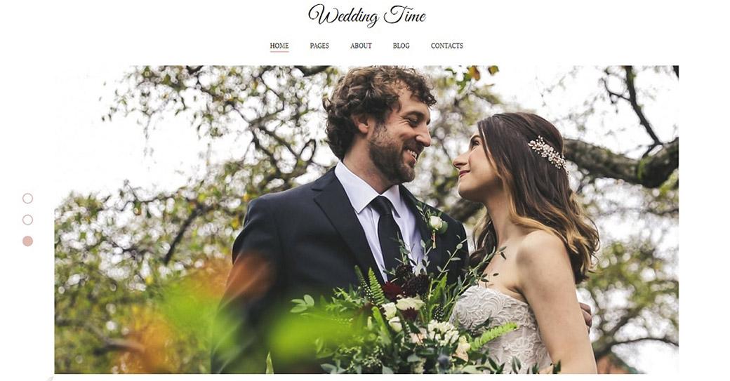 Website Template für einen Hochzeitsveranstalter