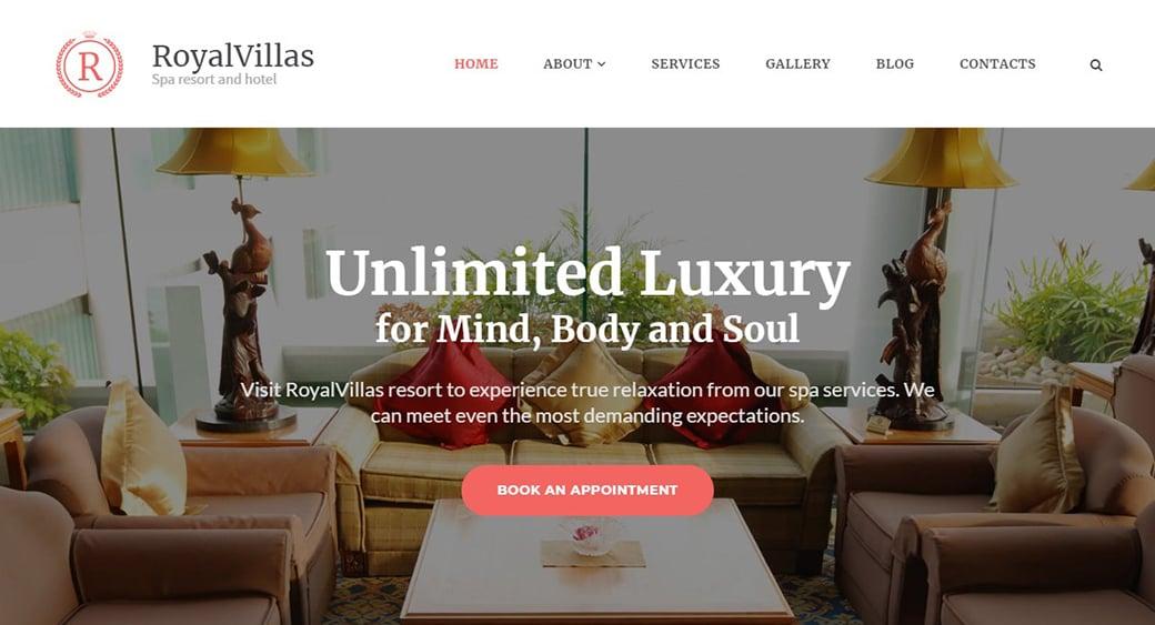 Дизайн сайта виллы