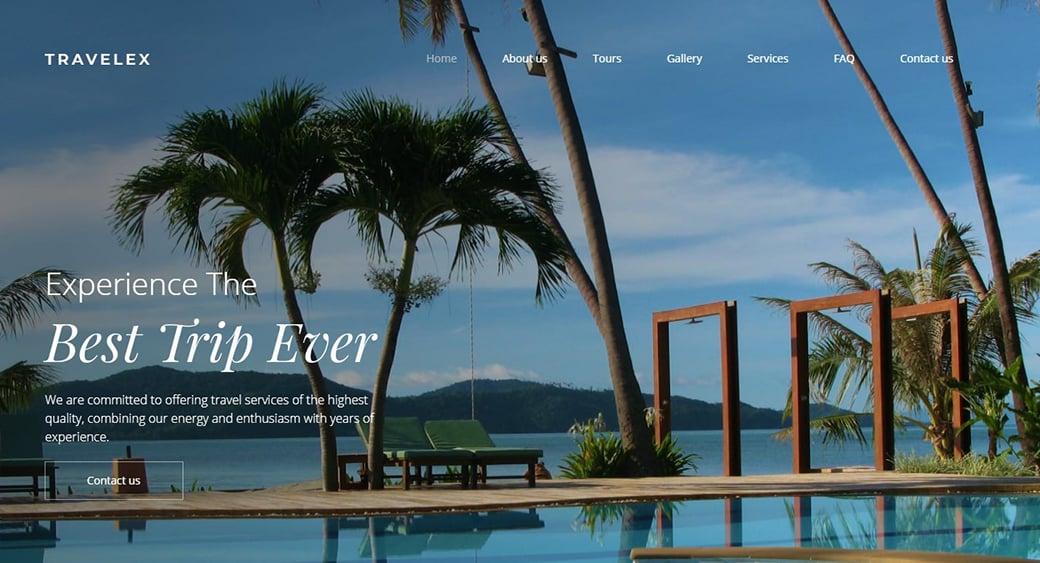 Сайт тропического отеля
