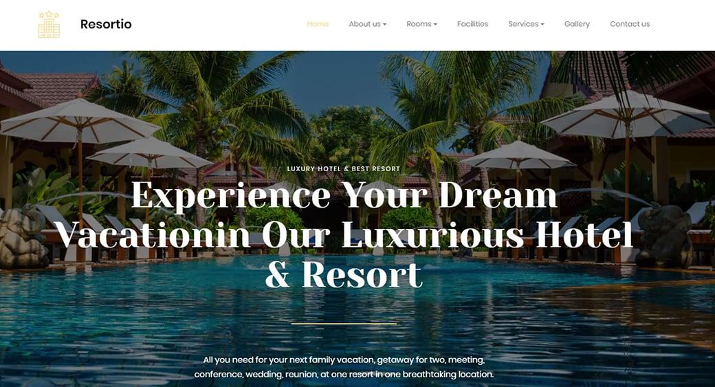 Дизайн сайта тропической гостиницы