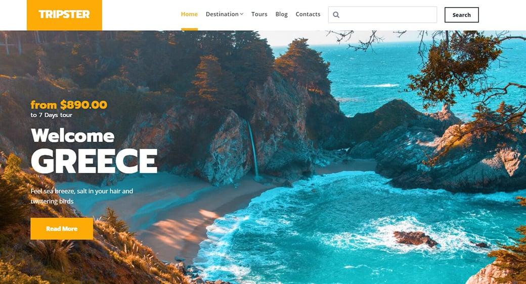 Сайт на тему туризма и путешествий
