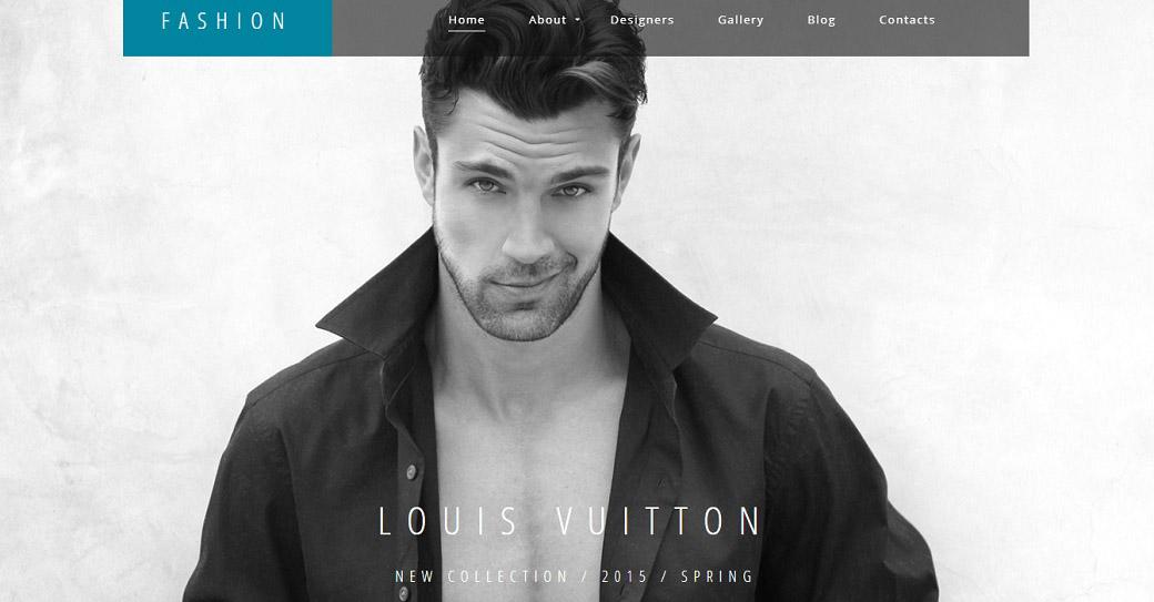 mode website vorlage für künstler portfolio