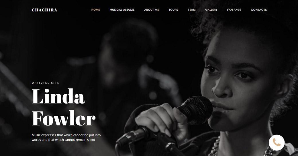 musikband website vorlage für künstler portfolio