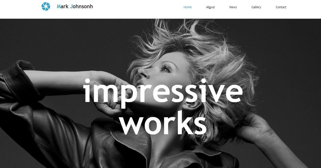 künstler portfolio website template für foto