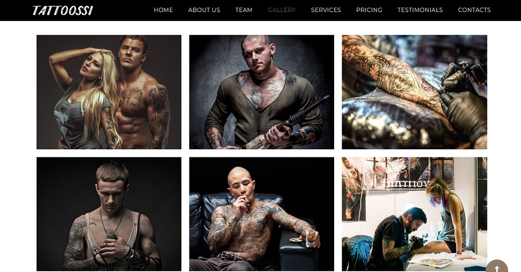website template für ein tattoo studio