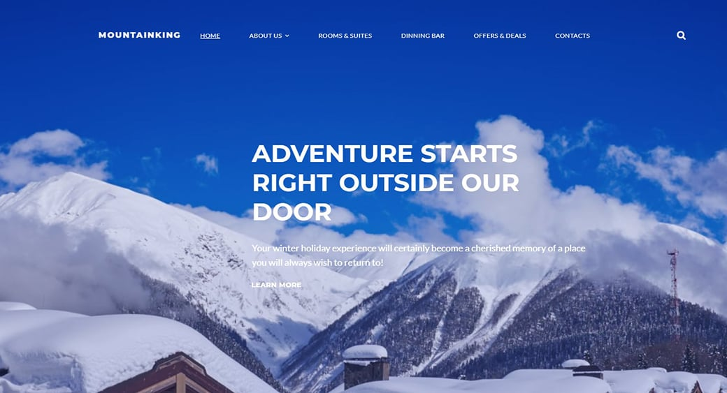 Сайт зимнего отеля