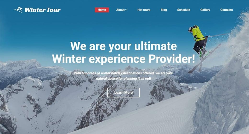 Сайт горнолыжного отеля