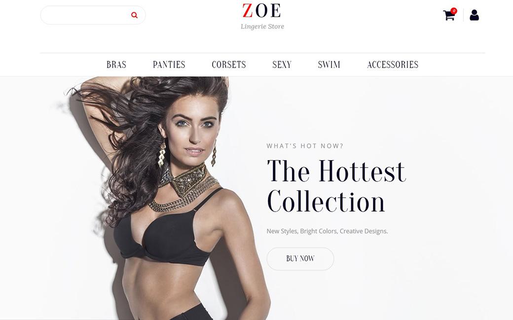 Адаптивный шаблон интернет магазина одежды
