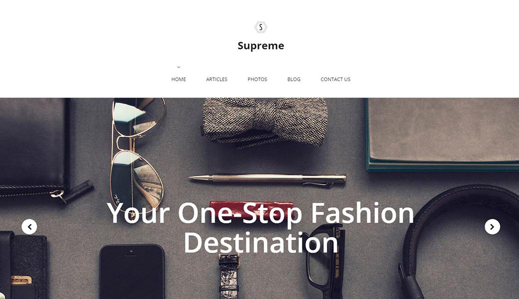 Адаптивный шаблон сайта Supreme
