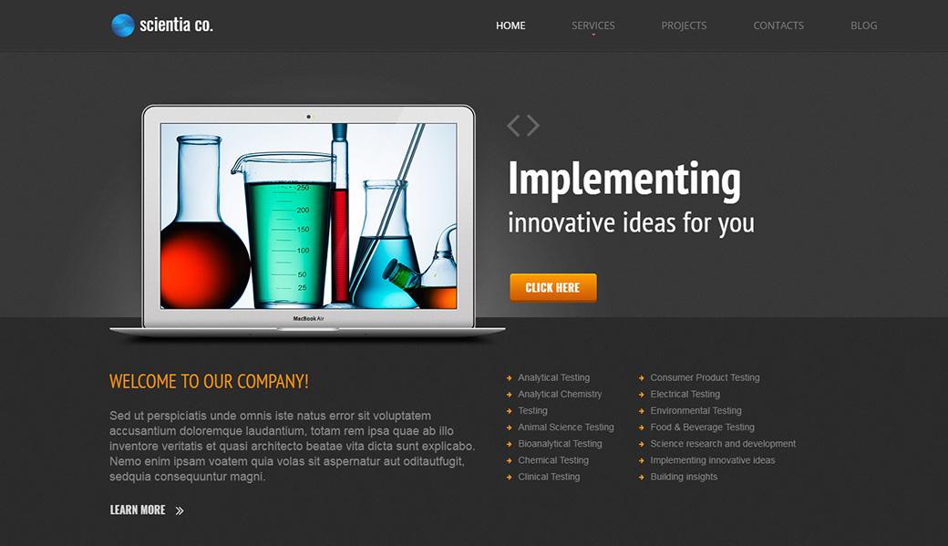 шаблон сайта Scientia Co наука и технологии
