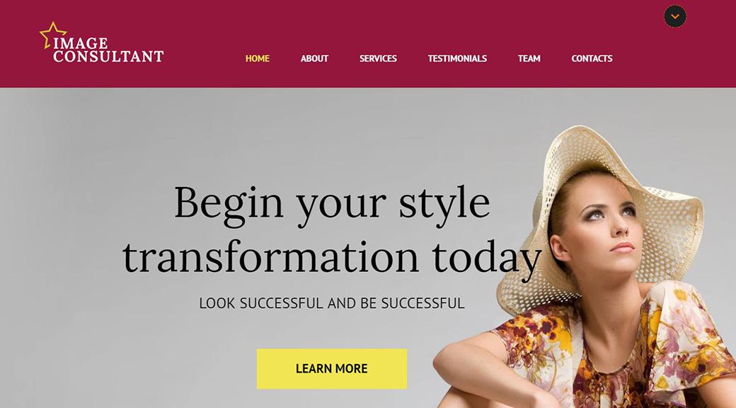 HTML шаблон сайта Image Consultant