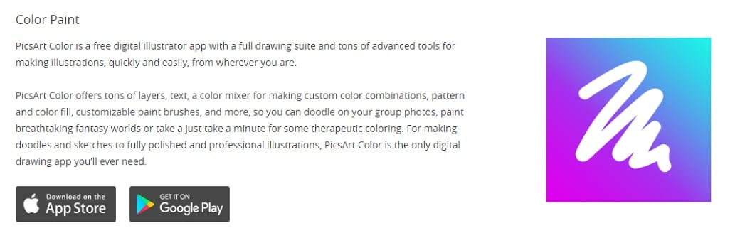 Free drawing apps - color paint